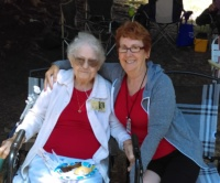 Bonnie And Margie At Picnic